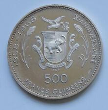 Guinea • 1969 • 500 Francs • 1972 Munich Olympics • Silver 0.934 oz.  • KM 15