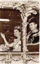 RPPC,U.K.H.M.Queen Elizabeth II & Duke of Edinburgh,State Coach,Coronation,1953