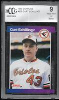 1989 Donruss Curt Schilling Baltimore Orioles #635 RC BCCG 9 MINT Rookie Card