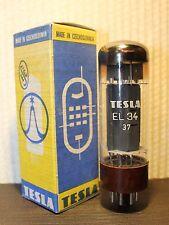 TESLA EL34 / 6CA7 BROWN BASE NOS NIB VACUUM TUBE TESTED