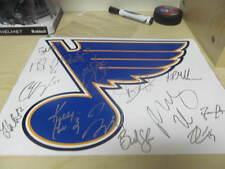 2015/16 St Louis Blues Team Signed 11x14 Logo Photo COA