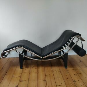 Chaise longue, B306, Le Corbusier, black, leather, used, good condition, LC4,