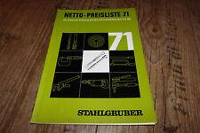 Stahlgruber Netto Preisliste 1971 zu unserem Katalog Qualitätswerkzeuge 69