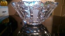 Gorgeous Rare Cut Glass Punch Bowl