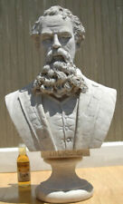 Charles Dickens Life Size Bust Statue a Christmas Carol Faux Marble Sculpture