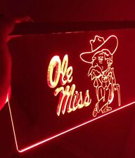 Ole Miss Led Sign for Game Room,Office,Bar,Man Cave. Brand New!