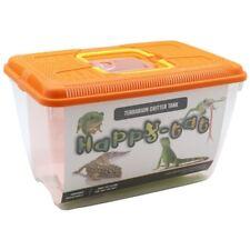 Plastic Aquarium Fish Tank Critter Reptile Insect Goldfish Cage Carry 32.5x21x20 Pink