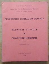 Recensement Gal du Vignoble, Cadastre viticole, Charente-Maritime 1963