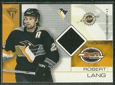 ROBERT LANG 02 PACIFIC PRIVATE STOCK DRAFT GAME USED JERSEY PITTSBURGH PENGUINS