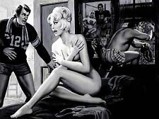 ART PRINT POSTER COMIC BOOK VINTAGE PICTURE WOMAN NAKED NOFL1476
