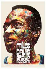 Psychedelic Jazz:  Miles Davis  German Tour Concert Poster   1971 12x18