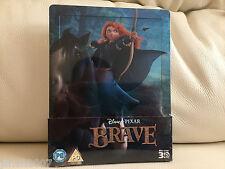 Disney Pixar Valiente Zavvi Exclusiva Steelbook Blu Ray 3D ** Nuevo Y Sellado **