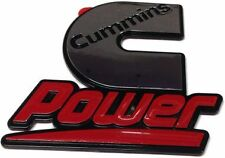 Cummins Power chrome sticker; badge; Truck; KW