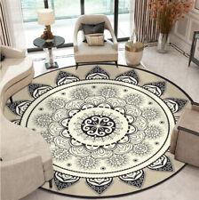 Modern Round Area Rug/Carpet Luxury Geometric Print - Non Slip