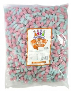 SMALL FIZZY BUBBLEGUM BOTTLES UP TO 3KG PICK N MIX SWEETS KINGSWAY