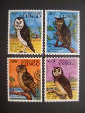 Kongo MiNr.: 1458 - 1461 ** postfrisch MNH Eulen