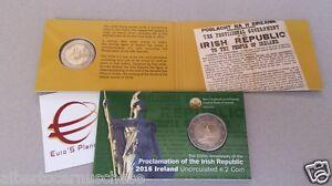 Coin card 2 euro 2016 Irlanda Irlande Ireland Eire Irland Irish Republic
