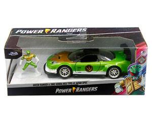 JADA 1:32 2002 Honda NSX Type R POWER RANGERS CAR w/ Green RANGER FIGURE 32871