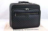 Auth Louis Vuitton Damier Graphite Plot Case Travel Caster Bag N23206 LV 93430