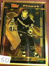 JAROMIR JAGR PITTSBURGH PENGUINS TOPPS FINEST BRONZE CARD VERY RARE HARD TO FIND