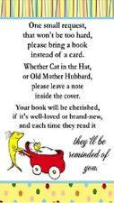 Dr. Seuss One Fish Two Fish Baby Shower Book Request Party Favors Cards