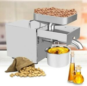 Automatic Small Oil Press Machine Stainless Steel Cold Hot press 110V 60HZ