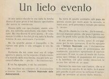 Z1501 Istituto Nazionale delle Assicurazioni - Pubblicità d'epoca - 1927 Old ad