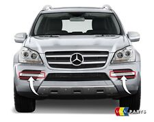 NEW GENUINE MERCEDES BENZ GL X164 FRONT BUMPER FOG LIGHT GRILL TRIM PAIR SET