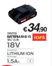 BATTERIA RICAMBIO M-B 15 18V. 1,5 Ah VALEX LITIO 18 V. TRAPANO AVVITATORE TAGLIA