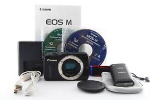 Canon EOS M 18.0MP Digital Camera Body+90EX Speedlite From JP Exc+++ #806651