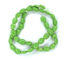 "16"" GREEN Turquoise Howlite Oval ~42 Beads 8x10mm K4909"