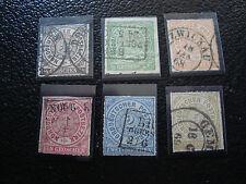 ALLEMAGNE(confederation de l allemagne du nord)timbre yt n°1 a 6obl(A4)germany