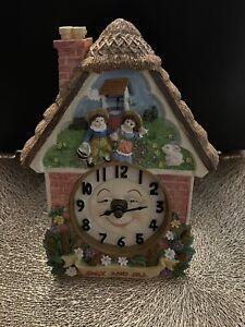 Jack And Jill Ceramic Clock Made By Leonardo