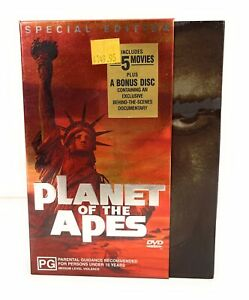 Planet Of The Apes Special Edition 6 Disc Box Set DVD Region 4 Free Postage