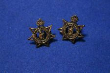 24th Battalion (Kooyong Regiment) - Brass Collar Badge Pair - 1930 to 1942