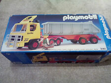 Vintage Playmobil mammut power 3141 construction Tipper Truck camion Boxed