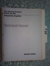Harman Kardon hk503 hk 503 service manual original repair book stereo amp