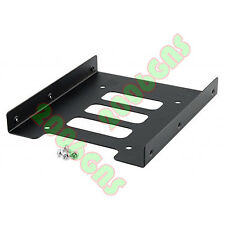 2.5 inch SSD HDD Hard Drive to 3.5 inch Solid Steel Bay/Tray Mounting Bracket