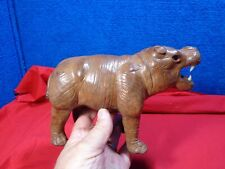Hippo Leather Covered Figurine