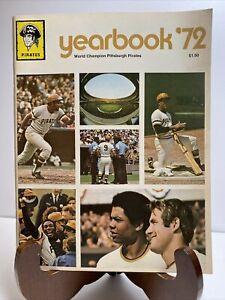 1972 Pittsburgh Pirates Baseball Yearbook World Champions Clemente Near Mint