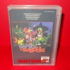 VINTAGE 1998 NINTENDO 64 N64 BANJO KAZOOIE CARTUCCIA VIDEOGIOCO PAL + Custodia