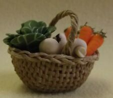 Doll's House 1/12th - Basket of Vegetables - Hand made by Muffin Lodge