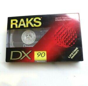 Raks Dx90 Vintage Cassette Tape Brand New Sealed