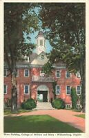 Postcard Wren Building College of William and Mary Williamsburg Virginia