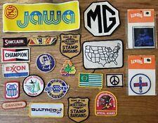 Vintage Patch Lot 21 patches Automotive Motorcycle Advertisement  Rare