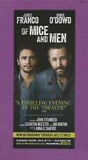 JAMES FRANCO on Broadway with CHRIS O'DOWD in OF MICE AND MEN by JOHN STEINBECK