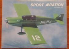 Sport Aviation Magazine September 1980 John Monnett's low wing Sonerai 2
