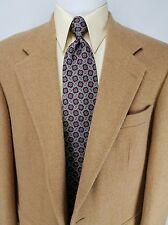 Lands End Men's Sport Coat Beige Tan Blazer Jacket Lambswool Camel Hair Size 41R