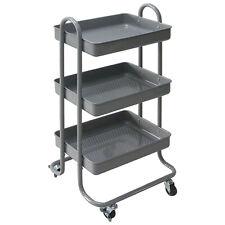 Chariots de cuisine gris Dessertede cuisineà roulettes Étagère meuble métal