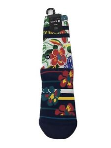 """Stance """"Messy ST"""" Casual Crew Socks Floral - Size Large (9-12) - NEW WITH TAGS!"""